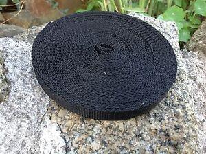 15mm Black Nylon Webbing Tape x 10 Meters