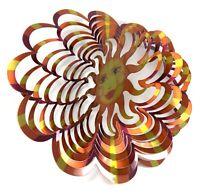 WorldaWhirl Whirligig 3D Helix Wind Spinner SS Green Black Patio Garden Twister