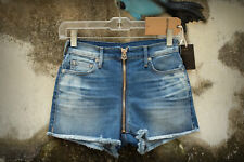 NWT TRUE RELIGION HIGH RISE AVA CUT OFF Size 25 Hot Mini Denim Short Shorts