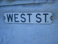 West ST.  Vintage Street Sign Embossed 24 x 6 Black & White HEAVY