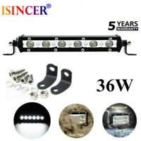 36W 6 inch LED Work Light Bar Driving Lamp Fog Off Road SUV Car Boat Truck 4WD