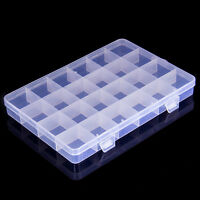 1x 24 Slots Plastic Storage Box Case Home Organizer Earring Jewelry Container