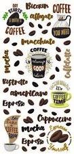 Sticker Aufkleber Kaffee Kaffeetasse Kaffeebohnen Espresso Kaffebecher Sprüche