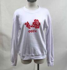 Obey Women's Crew Sweatshirt Obey Flower White Size S NWT Shepard Fairey