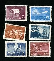 Yugoslavia Stamps # 317-22 XF OG NH Scott Value $20.00