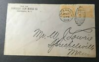 US POSSESSION HAWAII 1899 COAT OF ARMS 2 ONE CENT YELLOW STAMPS on cover used