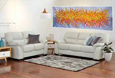 Aboriginal inspired art Modern Painting  Bush Fire Abstract 160cm x 60cm COA