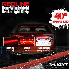 "40"" Flexible Rear Windshield 3rd Brake LED Light Strip w/Sequential Turn Signal"