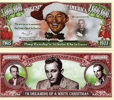 Bing Crosby's White Christmas Million Dollar Novelty Money
