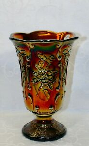 Fenton, Vase, Golden Ebony Carnival Glass.