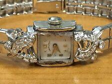 HAMILTON 18 diamond 14K gold watch with solid 14K band 28g 19j