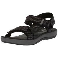 Clarks Womens Brizo Cady Fabric Open Toe Casual Sport, Black/Grey, Size 5.0