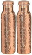 Ayurveda Health Benifit Hammered Drinking water Bottle 100% Pure Copper Set Of 2