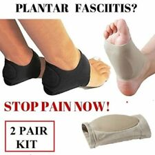 2 Pair Plantar Fasciitis Therapy Wrap Heel Foot Arch Support Ankle Brace Insole
