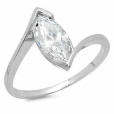 2ct Marquise Cut Classic Solitaire Bridal Engagement Promise Ring 14k White Gold
