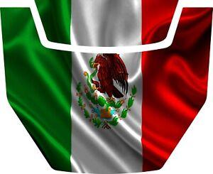 2016-2020 Polaris General 1000 EPS HOOD DECAL GLOSS WAVING MEXICAN FLAG