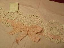 """3 YDS X 5//8"""" VINTAGE Very Fine TINY Ivory Cotton DOLL LACE TRIM EDGE Old Stock"""