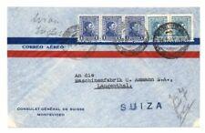 URUGUAY: Airmail cover to Switzerland,