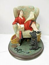 "Vintage Norman Rockwell Porcelain ""Sitting Pretty"" Figurine Rhodes Studio - New"