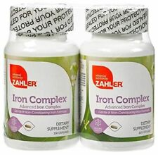 2 Pack Iron Vitamin Complete Blood Building Supplement Iron Complex ~ Zahler