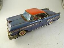 """Vintage Tin Friction Drive Toy Model Car 1959 Oldsmobile Japan 12"""" Long Old"""