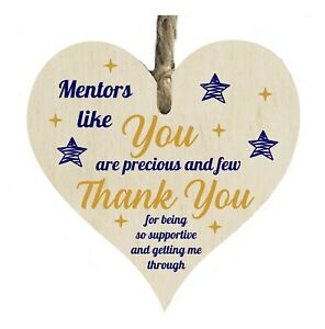 Mentors Like You Thank You Quote Wooden Heart Shape Plaque Gift Sign htc62