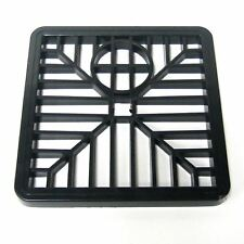 "6"" Black Drain Cover Square Gulley Grid / Plastic Drainage Grille Gully 15cm"