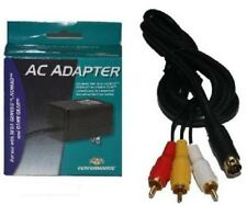 9 Pin RCA AV Composite Cable & AC Power Supply Adapter for Sega Genesis 3 System