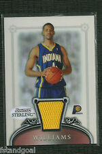 SHAWNE WILLIAMS 06-07 BOWMAN STERLING GAME JERSEY REFRACTOR RC 171/199 PACERS