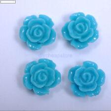 Wholesale 20pcs Resin Flower Flatback Cabochons Charm beads 10MM 12MM 10 Colors