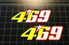 Valentino Rossi Nicky Hayden 469 MotoGP racing decals stickers 46 69 the doctor
