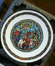 NOEL VITRAIL JOYEUSE NOUVELLE STAINED GLASS VINTAGE PORCELAIN PLATE