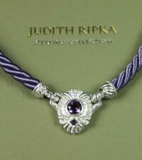 New JUDITH RIPKA Sterling Silver COLLECTION Amethyst Stone 925 Necklace Pendant
