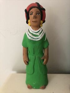 Josefina Aguilar Clay Art Figure. Handcrafted Muneca - Oaxaca. Mexican Folk Art