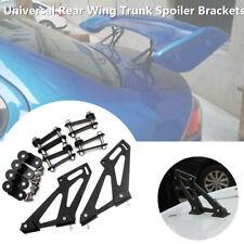Universal Car Rear Wing Trunk Spoiler Legs Brackets Mount Side Plate Stand Black