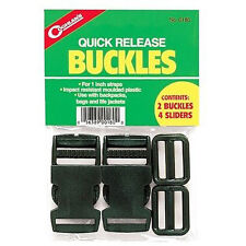 Coghlan's Quick Release Webbing / Strap Buckles and Sliders - 1 Inch