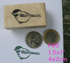 P95 Chickadee bird rubber stamp