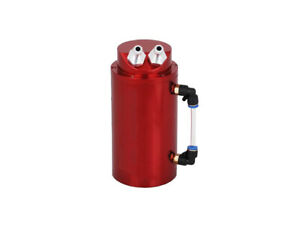 0.5L Racing Engine Oil Alu Catch Tank Can Reservoir Kit 10mm in/outlet - Red