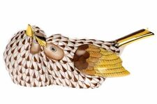 HEREND, LOVE BIRDS PORCELAIN FIGURINE, CHOCOLATE FISHNET, FLAWLESS, RETAIL $490