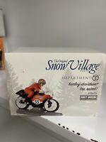 """Vintage Department 56 Snow Village """"Harley-Davidson Top Speed!"""" Figurine / NEW"""