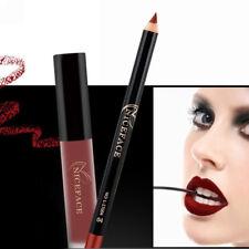 Long Lasting  Makeup Matte Lipstick Lip Pencil Liquid Gloss Liner Set Waterproof