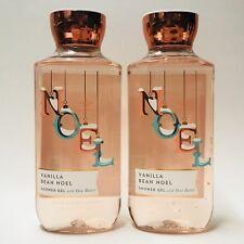 2 Bath & Body Works Vanille HARICOT NOEL Gel douche Lavage 10 fl.oz Beurre