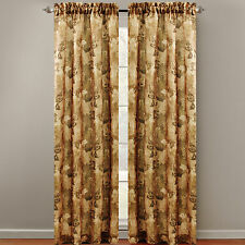 """Chapel Hill 84"""" Lorna Window Curtain Tailored Panel - Taupe - NWT"""