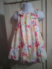 NWT Little Me (Macy's) 24 Months (2T) BUBBLE DRESS Butterflies Floral Lined