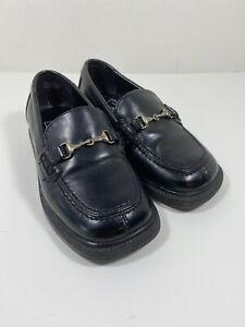 Toddler Boys Dress Shoes Size 8 Black Loafers TKS
