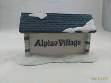 """Dept 56 Alpine Village """"Alpine Village Sign"""" #65714 No Box"""