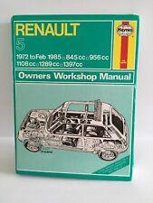 RENAULT 5 HAYNES SERVICE & REPAIR MANUAL. 1972-85
