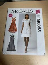 McCalls M6883 Schnittmuster Kleid Sommerkleid Damen 6-14 32-40 neu