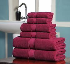 Premium 100% Long Stapled Cotton Bath Towels Super Soft 600 GSM 6 Pack Set --RED