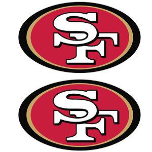 "Set of 2  San Francisco 49ers Cornhole Board Decals NEW ""15 x 9"" Large"